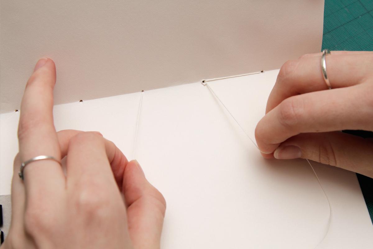 DIY Sketchbook Finishing