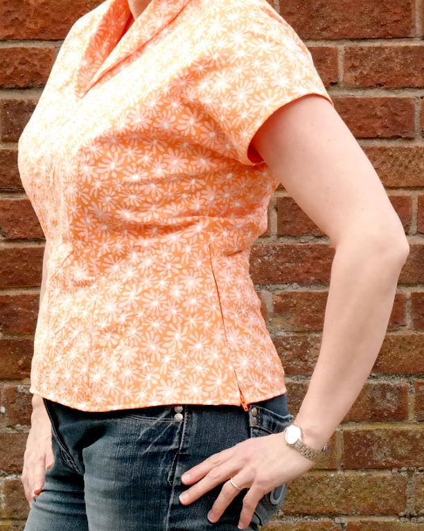 Vintage Top with Zip in Side Seam