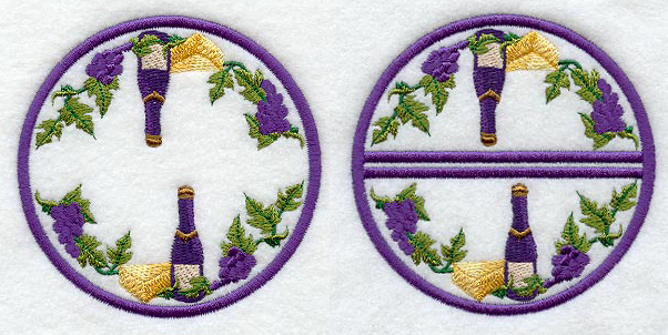In the hoop wine coasters
