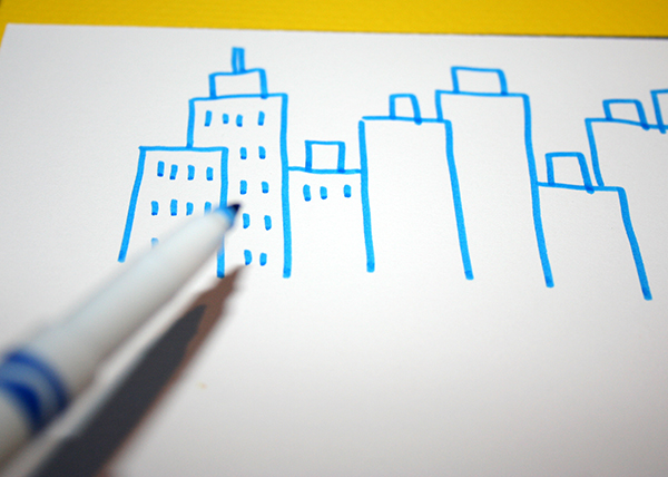 Skyline drawing