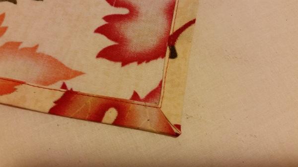 hemmed napkin