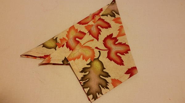 completed fall inspired napkin