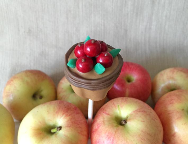 basket of apple cake pops