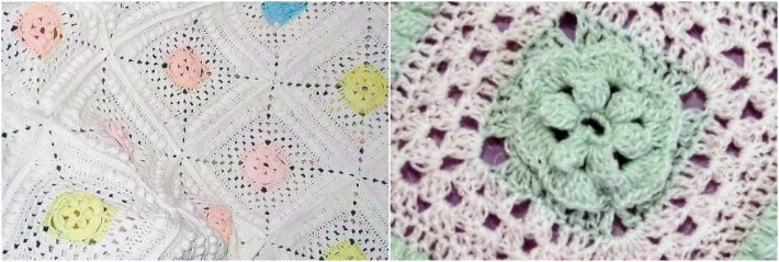 Arielsblanket by Sew Hooked granny square baby blanket
