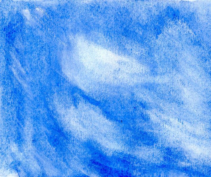Gouache overlay cirrus clouds