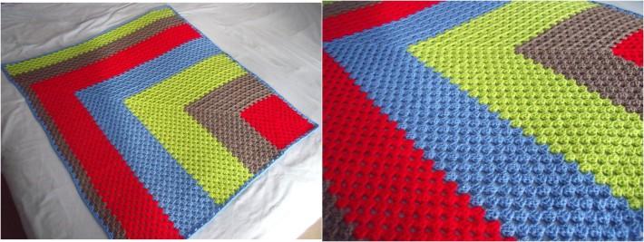 Corner granny square baby blanket