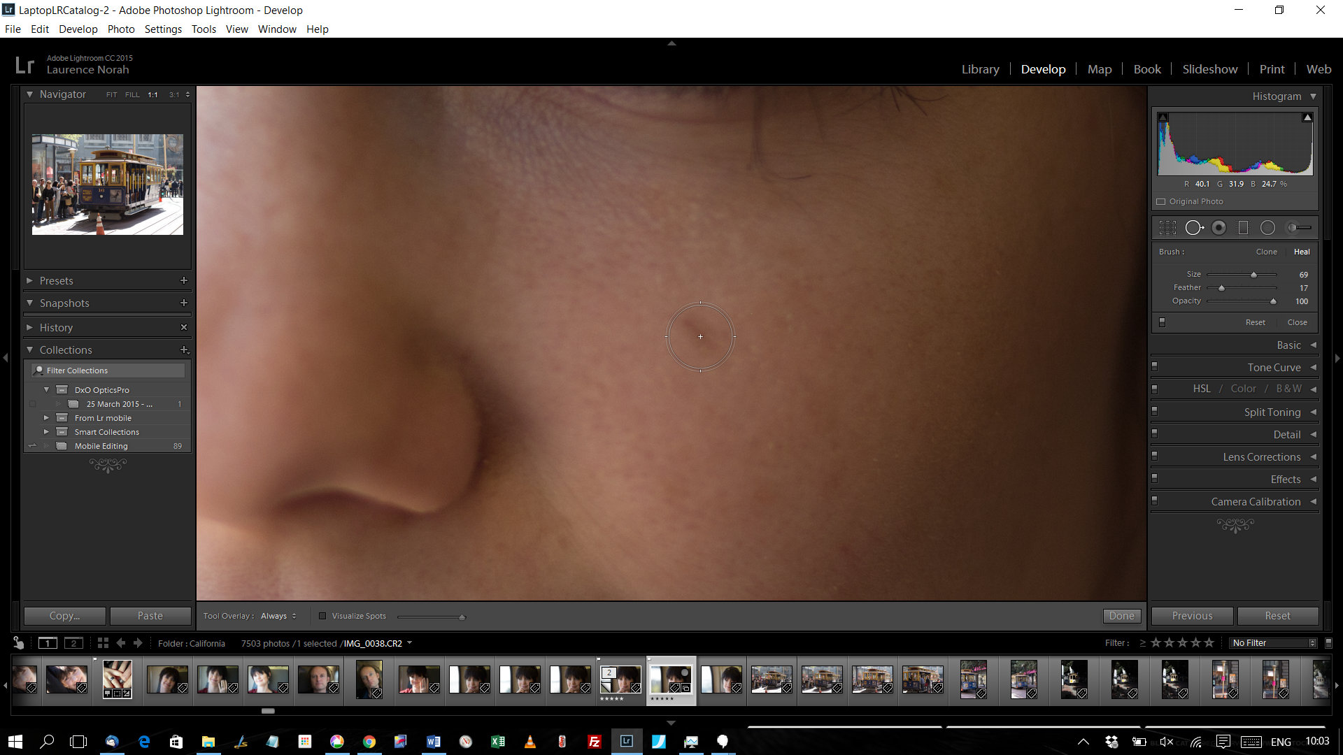 Fixing Blemishes in Lightroom