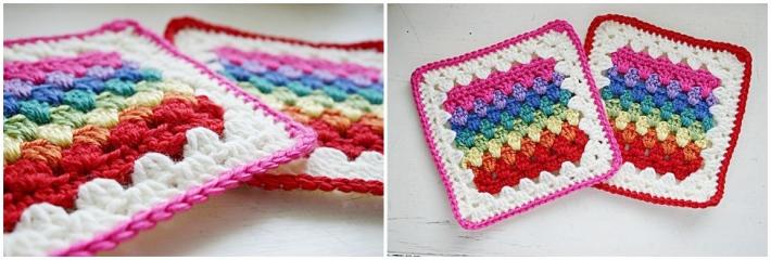 Granny stripe granny square pattern