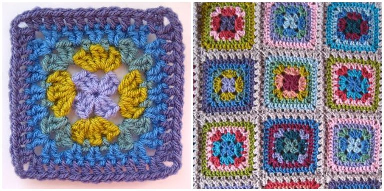 Harmony granny square pattern