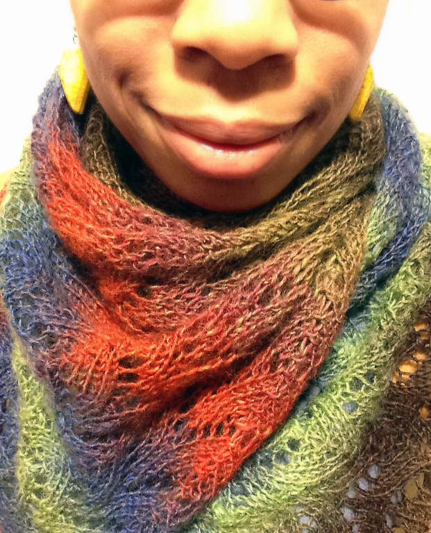 Horseshoe Stitch Button Scarf