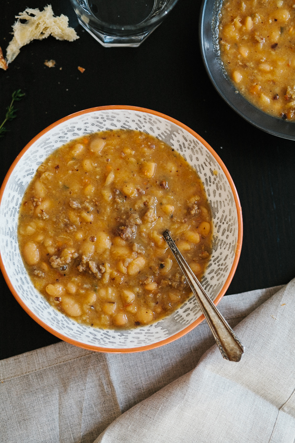 White Bean Soup with Sausage