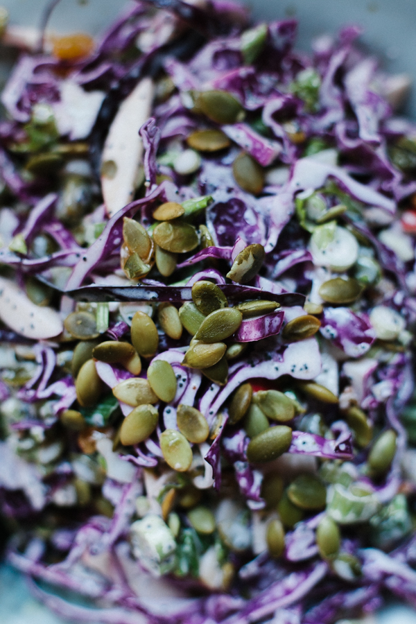 Cabbage Slaw with Pumpkin Seeds