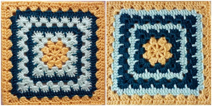 Mothers heartbeat granny square pattern