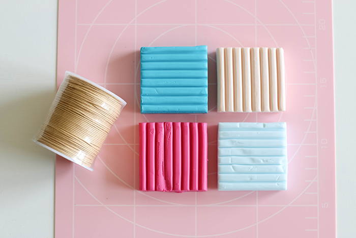 Materials for making polymer clay beads