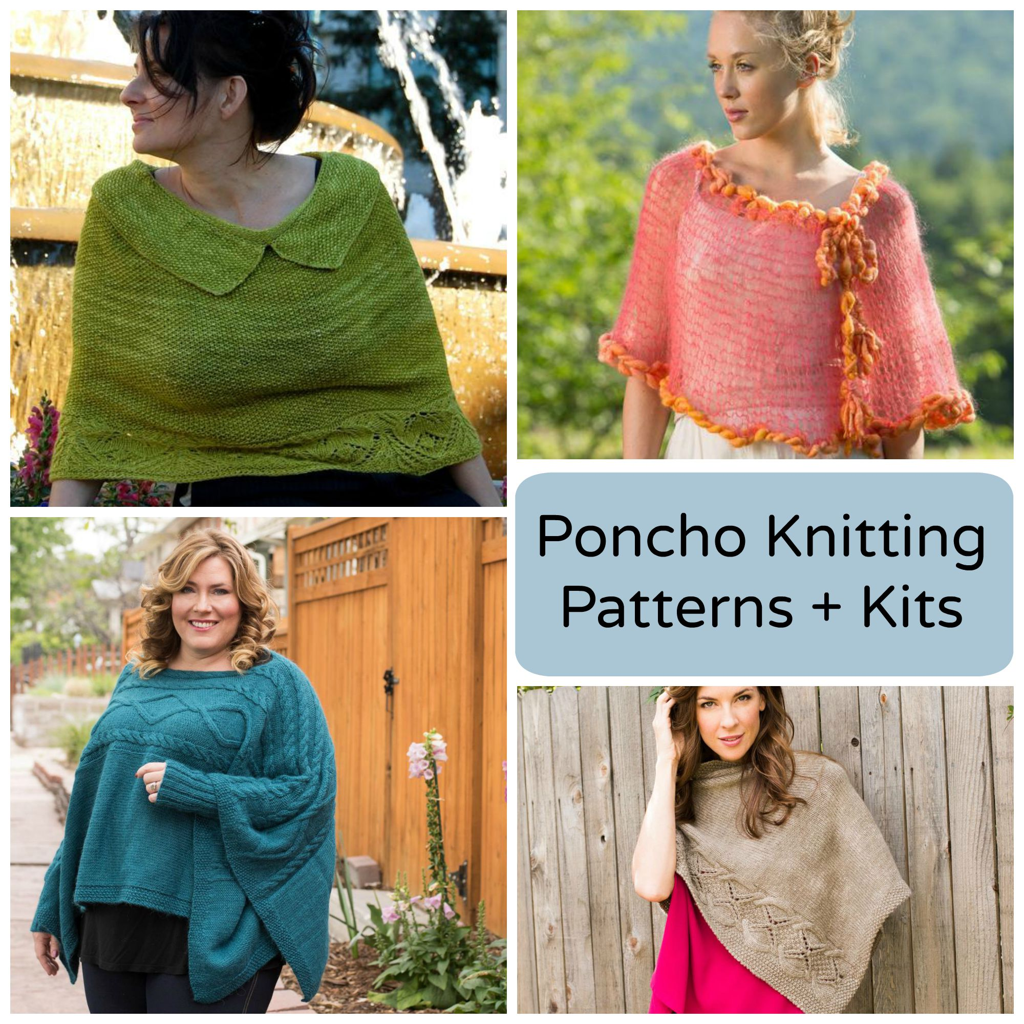 Poncho Knitting Patterns and Kits