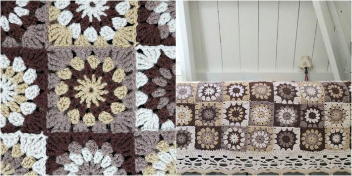 Retro granny square pattern