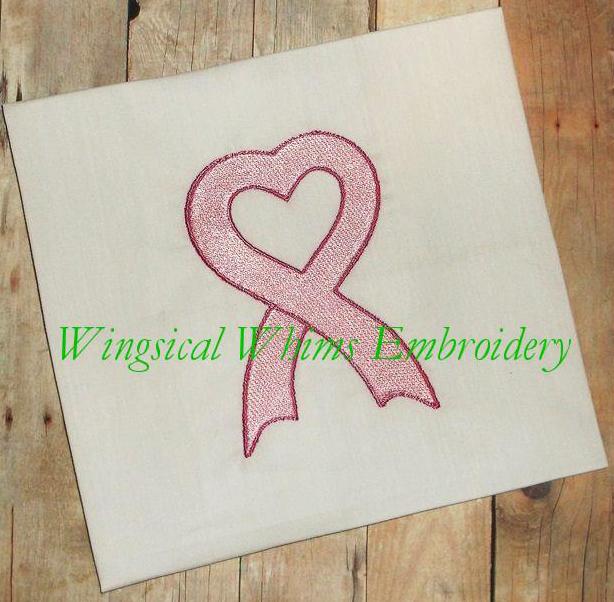 Ribbon Hear FREE Machine Embroidery File