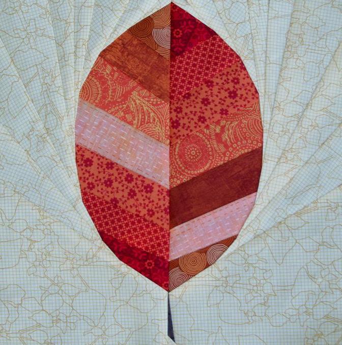 Red Leaf Quilt Block