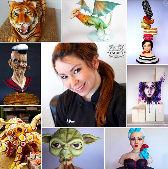 Cake Decorator Avalon Yarnes collage