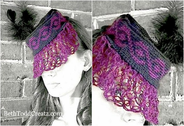 Tapestry crochet patterns Retro 1940s pillbox hat
