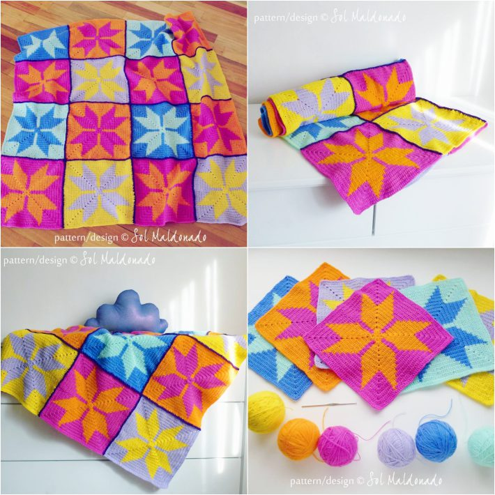 Tapestry crochet patterns geometric baby blanket