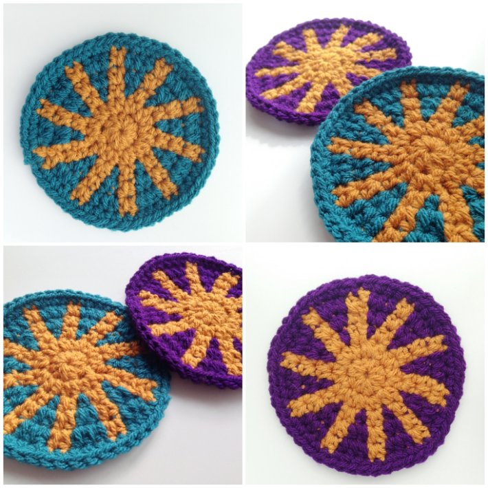 Tapestry crochet tutorial featured coasters