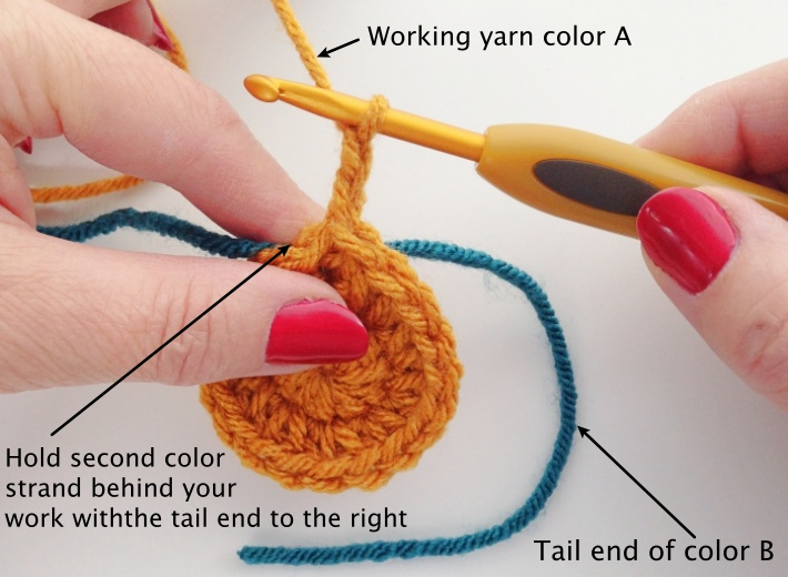 Tapestry crochet tutorial sun coaster step 1