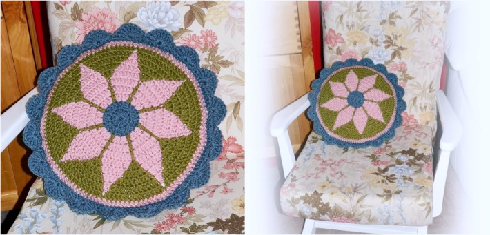 Tapestry crochet vintage cushion pattern