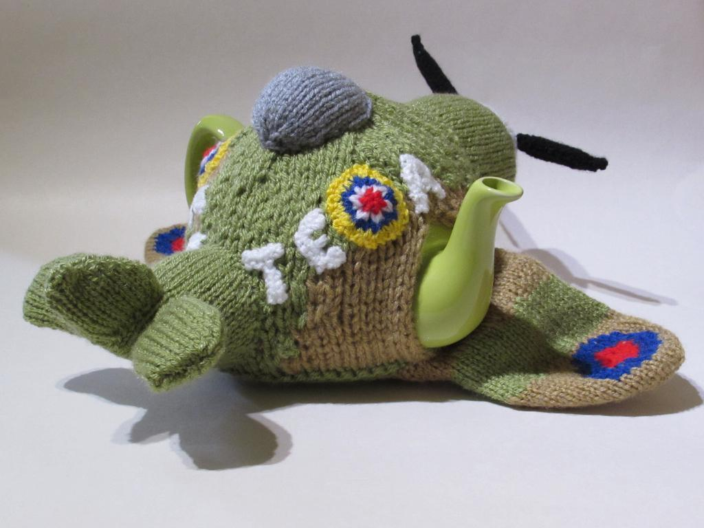 WWII Spitfire Tea Cosy Knitting Pattern