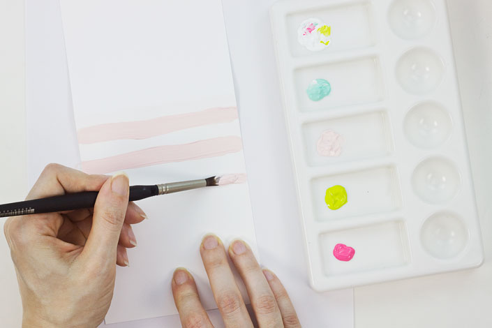 Hand Painting Card Backgrounds with Acrylic Paint