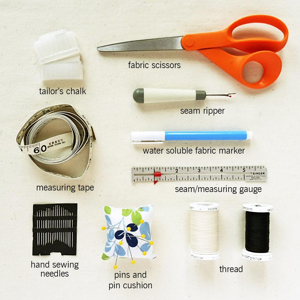 basic supplies to make a diy sewing box