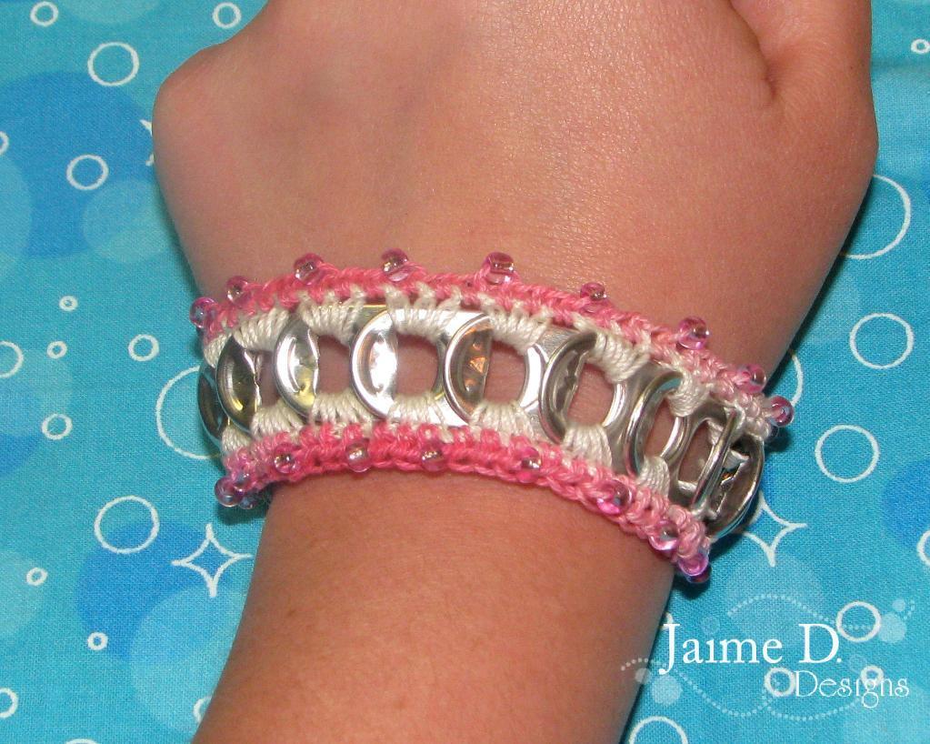 beaded pop tab bracelet