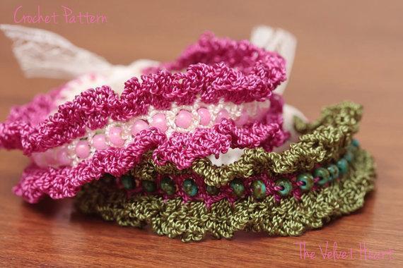 beads and fringe crochet bracelet
