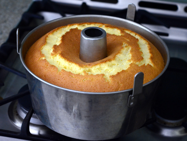 Lemon Chiffon Cake in a Tube Pan