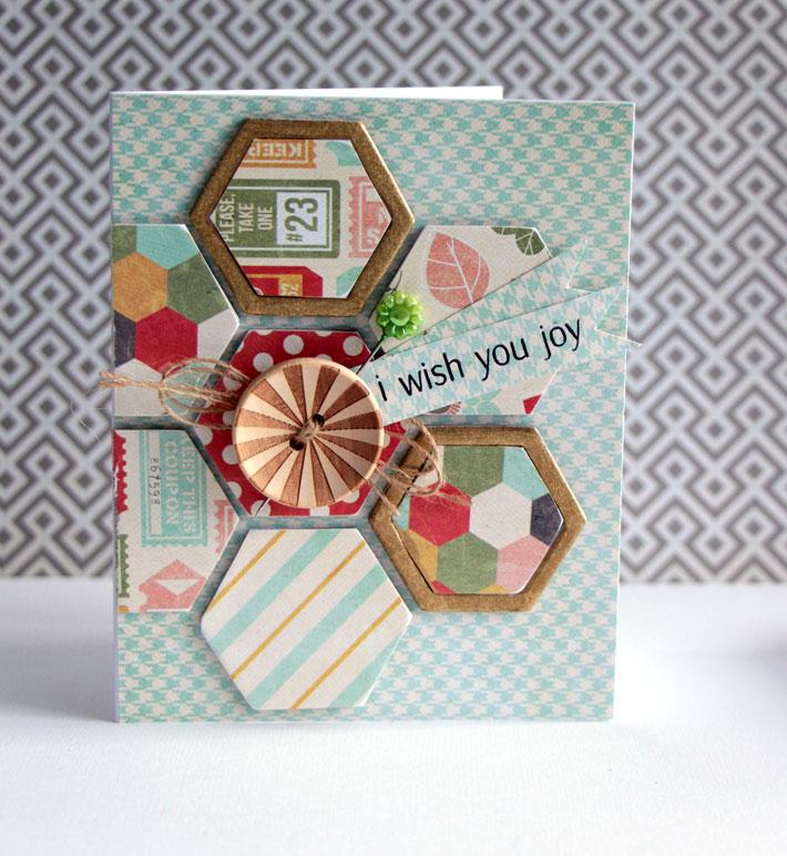 Chipboard Hexagons Embellishment Card