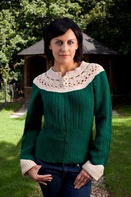 crochet sweater pattern with yoke