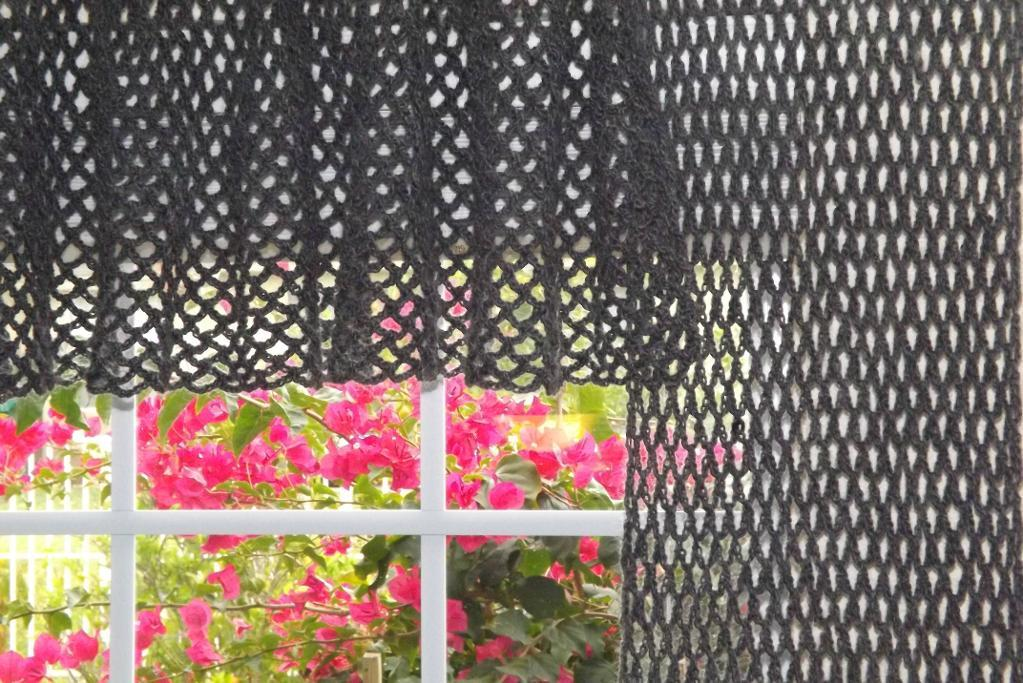 crochet window treatments pattern