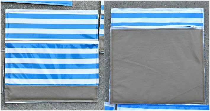 Pockets for DIY leather diaper bag