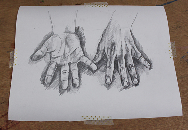Finished hand drawing