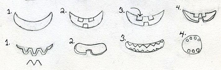 shaping a jack o'lantern mouth