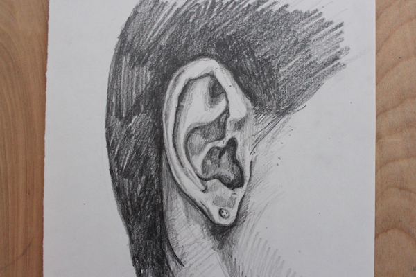 Finished ear drawing