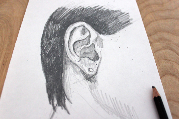 How to Draw an Ear With Accurate Shading