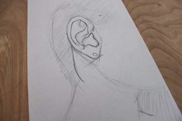 How to Draw a Detailed Outline of An Ear
