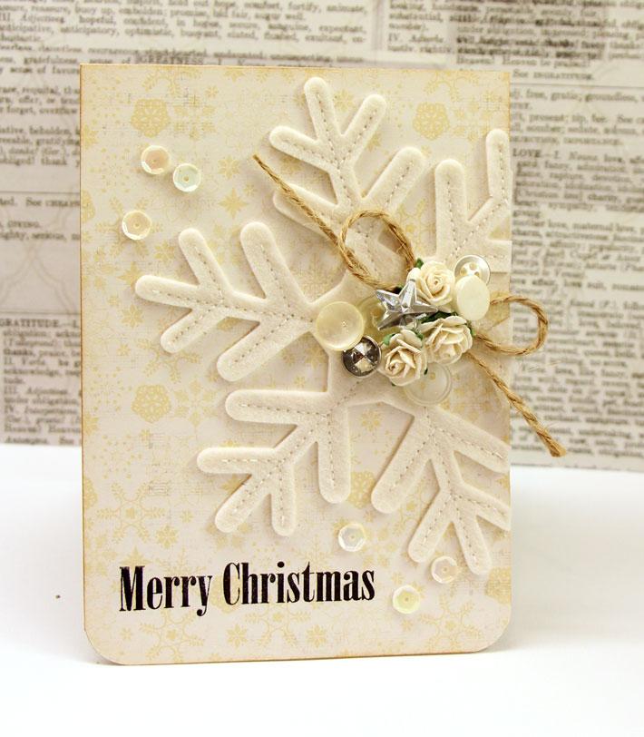 Felt Snowflake Embellishment Card