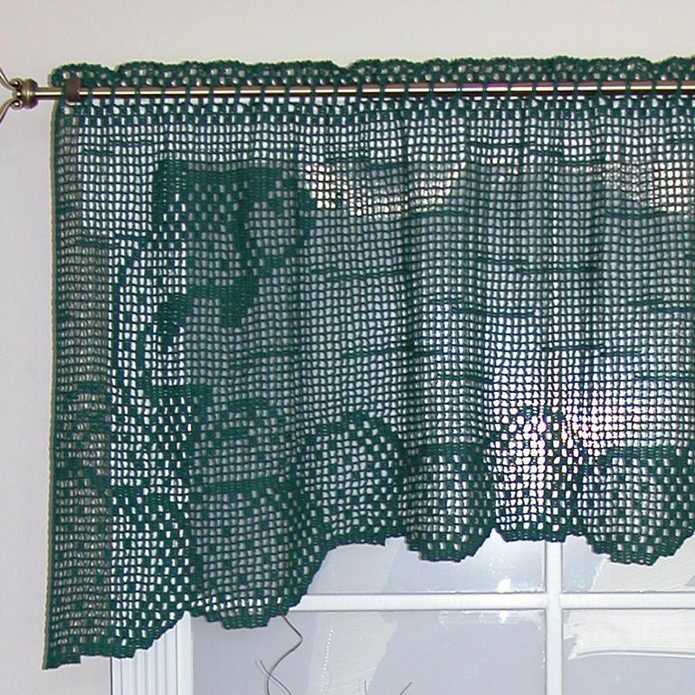 fish crochet curtain