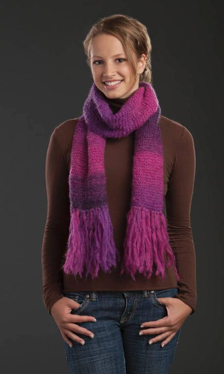 Mountain Mohair FREE Simple Scarf Knitting Pattern