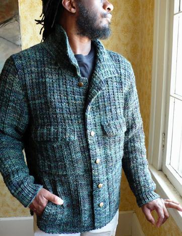 Men's Cardigan with Pockets and Buttons