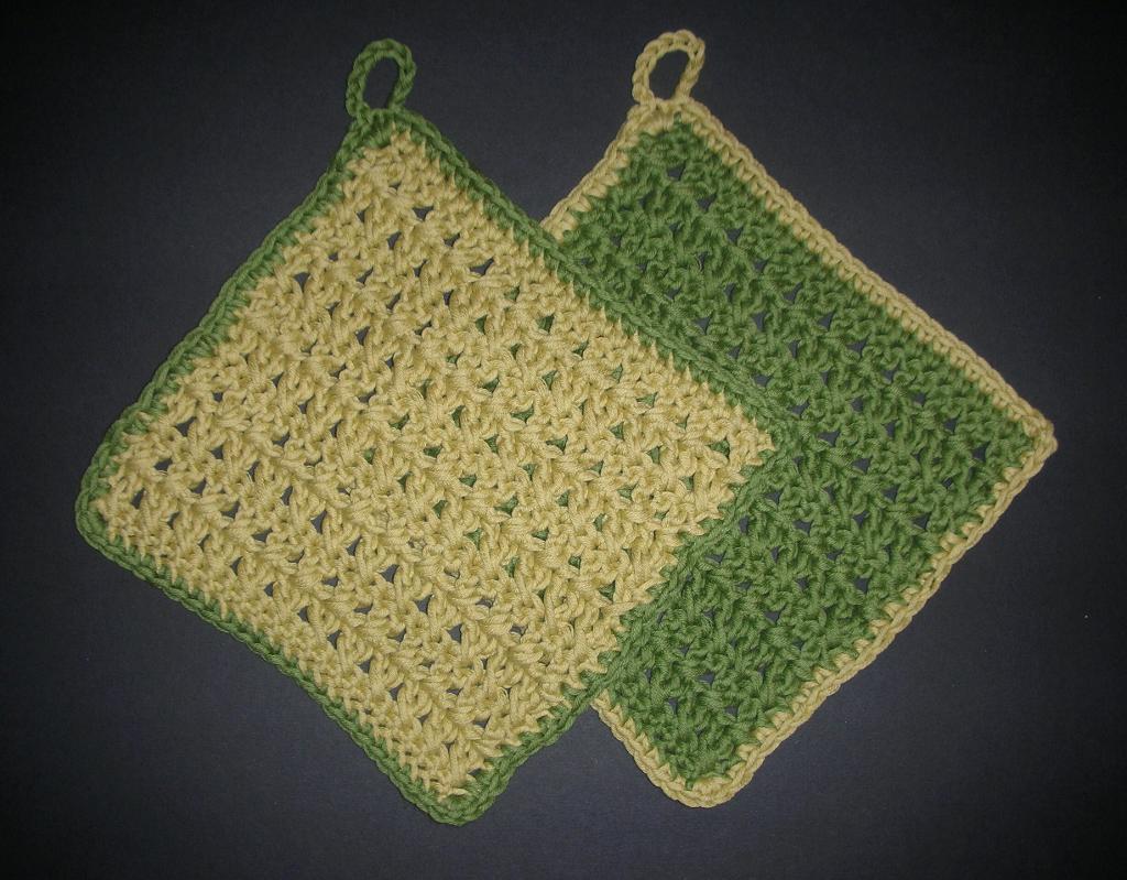 CrissCross Dishcloth FREE Crochet Pattern
