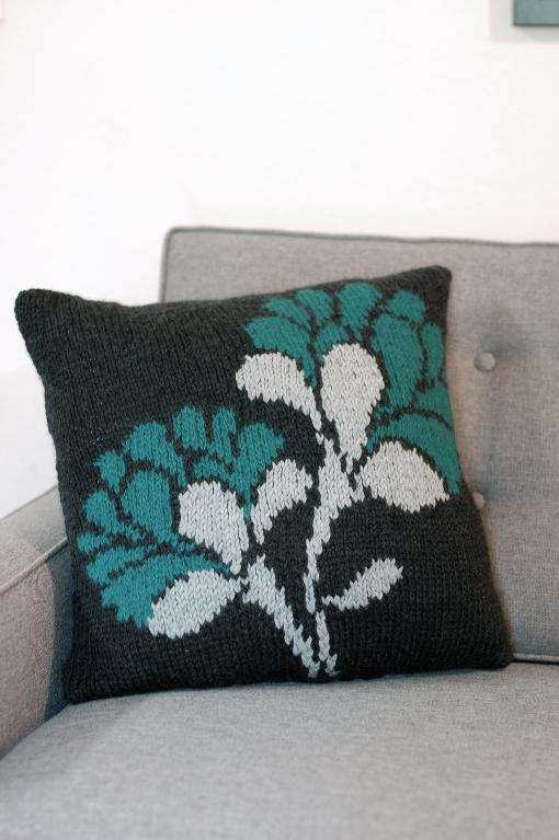 Floral Knit Pillow
