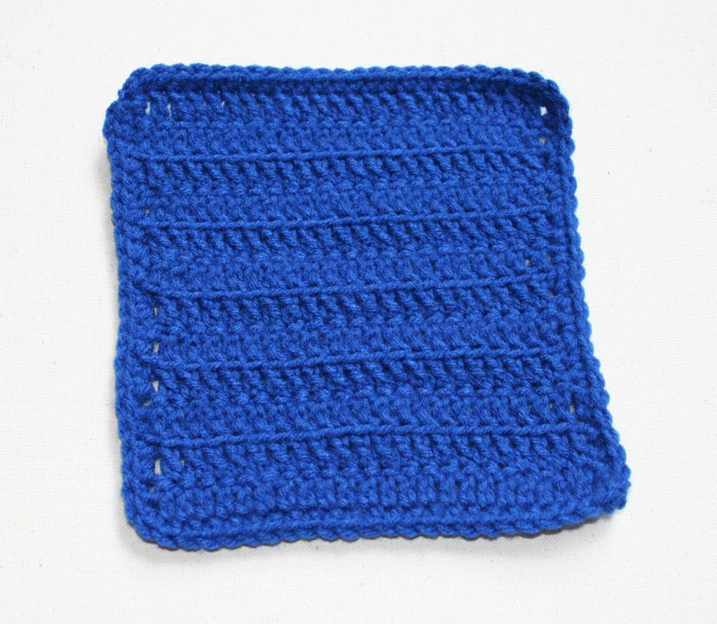 Simple Ribbed Dishcloth FREE Crochet Pattern